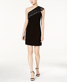 MSK One-Shoulder Shift Dress