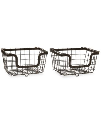 Gourmet Basics By General Store Set of 2 Stacking Organization Baskets