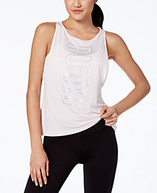Puma Mesh Metallic-Logo Tank Top