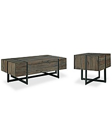Chambers Occasional Table 2-Pc. Set (Storage Coffee Table & End Table)