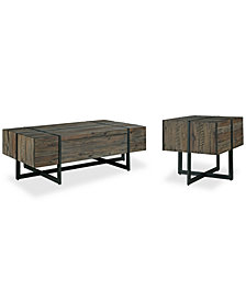 Chambers Occasional Table Furniture, 2-Pc. Set (Storage Coffee Table & End Table)
