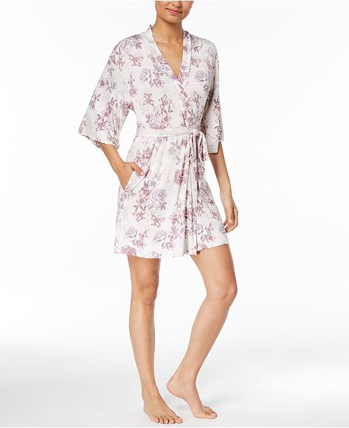 Thalia Sodi Floral-Print Knit Wrap, Created for Macy's