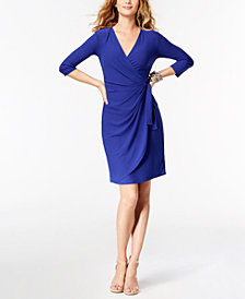 I.N.C. Wrap Dress, Created for Macy's