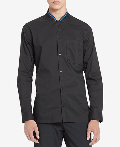 Calvin Klein Men's Ribbed Collar Shirt