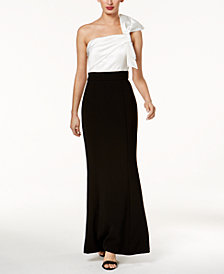 Vince Camuto Colorblocked Bow Gown