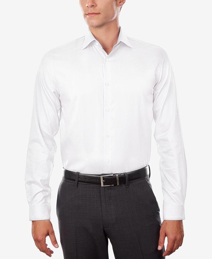 Michael Kors - Men's Regular Fit Airsoft Stretch Non-Iron Performance Solid Dress Shirt