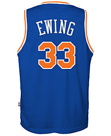 adidas Patrick Ewing New York Knicks Retired Player Swingman Jersey, Big Boys (8-20)
