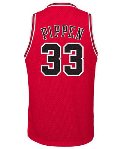 adidas Scottie Pippen Chicago Bulls Retired Player Swingman Jersey, Big Boys (8-20)