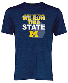 Blue 84 Men's Michigan Wolverines We Run This State Tri-Blend T-Shirt