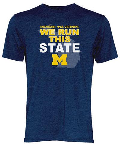Blue 84 Men's Michigan Wolverines We Run This State Tri-Blend T-Shirt