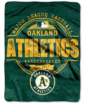 Northwest Company Oakland Athletics Micro Raschel Structure Blanket