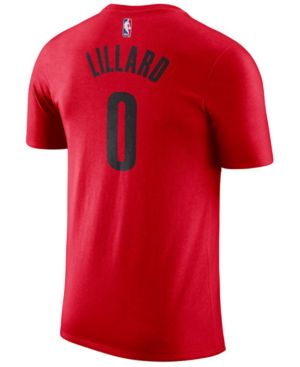 Men'S Portland Trail Blazers Nba Damian Lillard Name And Number T-Shirt, Red