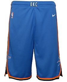Nike Oklahoma City Thunder Icon Swingman Shorts, Big Boys (8-20)