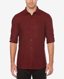 Perry Ellis Men's Linen Blend Textured Shirt