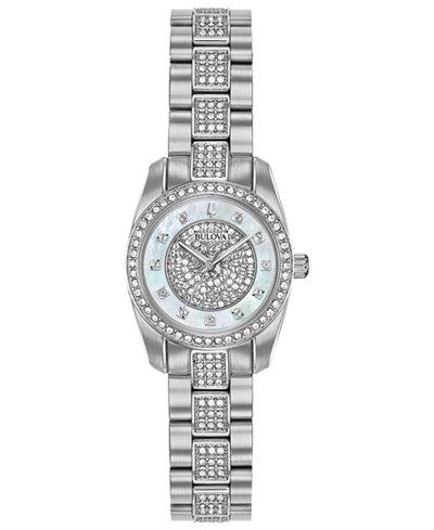 Bulova Women's Stainless Steel Bracelet Watch 23.5mm