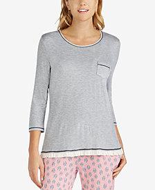 Layla Ruffled-Hem Pajama Top