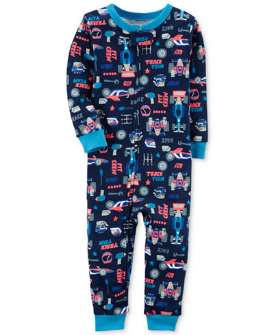 Carter's Race Car-Print Cotton Pajamas, Baby Boys