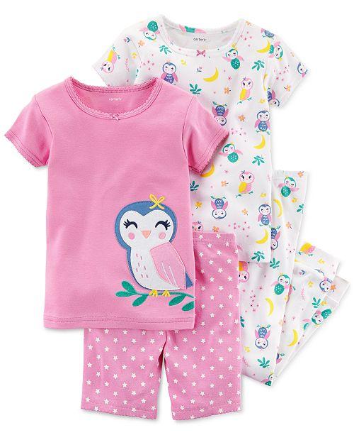 784d4b47b Carter s 4-Pc. Owl-Print Cotton Pajama Set