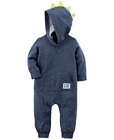 Carter's Hooded Cotton Spike Coverall, Baby Boys