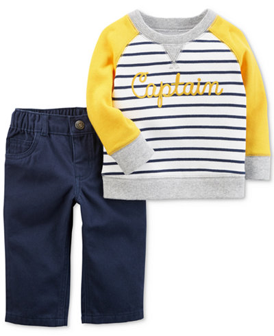 Carter's 2-Pc. Cotton Pullover & Pants Set, Baby Boys