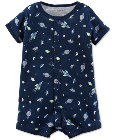 Carter's Space-Print Cotton Romper, Baby Boys