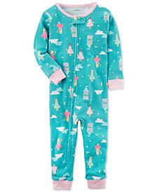 Carter's Princess-Print Cotton Pajamas, Baby Girls