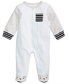 First Impressions Dash-Print Footed Coverall, Baby Boys & Girls, Created for Macy's