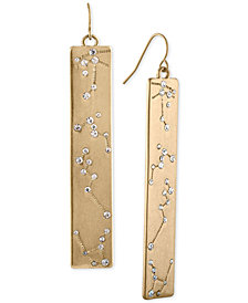 RACHEL Rachel Roy Gold-Tone Pavé Constellation Linear Drop Earrings