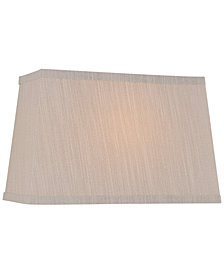 "Lite Source 16"" Fabric Rectangular Lamp Shade"