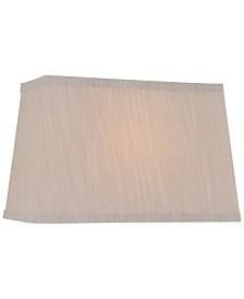 """Lite Source 16"""" Fabric Rectangular Lamp Shade"""
