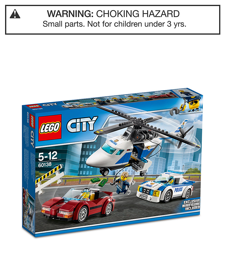 LEGO® City 294-Pc. Police High-Speed Chase 60138 - All Toys & Games ...