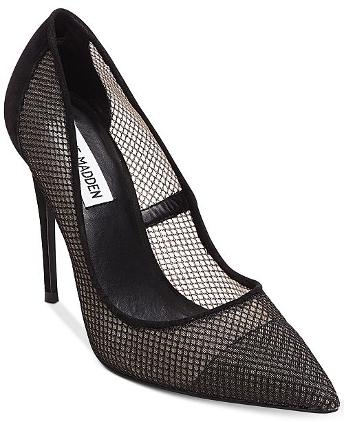 12d0cf304b5 Steve Madden Women s Darling Fishnet Pumps   Reviews - Pumps - Shoes ...