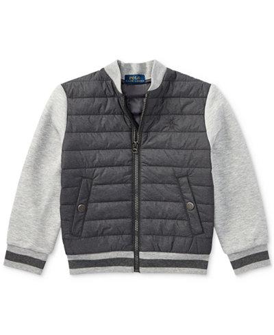Ralph Lauren Double-Knit Quilted Jacket, Little Boys - Coats ... : kids quilted jacket - Adamdwight.com