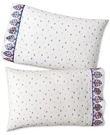 CLOSEOUT! Whim by Martha Stewart Collection Set of 2 Paired Pillowcases, Only at Macy's