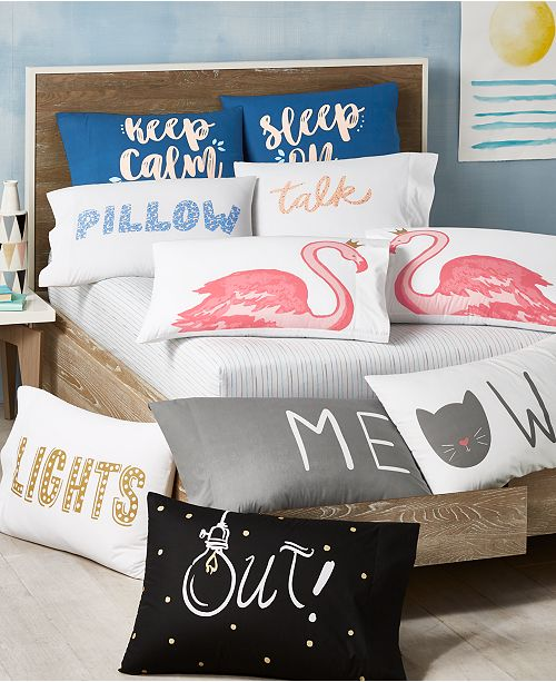 Martha Stewart Collection Paired Pillowcases Collection, Created for Macy's