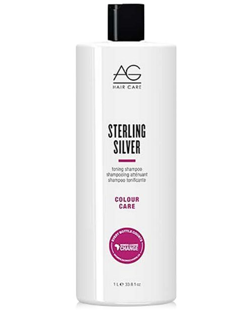 buy online 25642 254ca AG Hair Colour Care Sterling Silver Toning Shampoo, 33.8-oz., from  PUREBEAUTY
