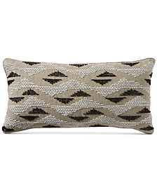 "CLOSEOUT! Hotel Collection Global Stripe 14"" x 20"" Decorative Pillow, Created for Macy's"