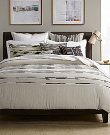 CLOSEOUT! Hotel Collection Global Stripe Duvet Covers, Created for Macy's