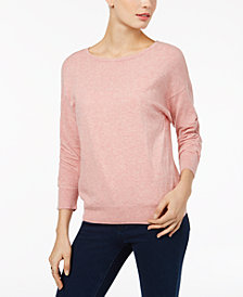 I.N.C. Petite Ruched-Sleeve Sweater, Created for Macy's