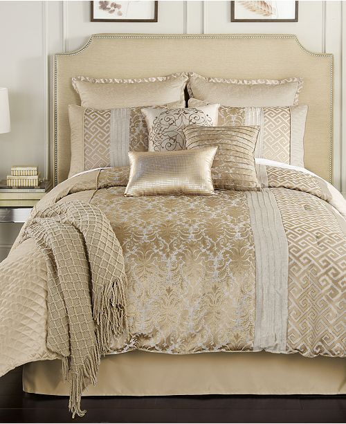 Make Any Room Look Like A Million Bucks With The Gleaming Gold Tones Luxe Textures And Elegant Jacquards Of These Alanis Comforter Sets From Hallmart