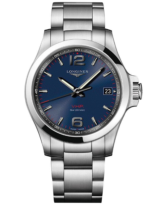 Longines - Men's Swiss Conquest VHP Stainless Steel Bracelet Watch 41mm