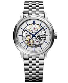 Men's Swiss Automatic Maestro Stainless Steel Bracelet Watch 39.5mm