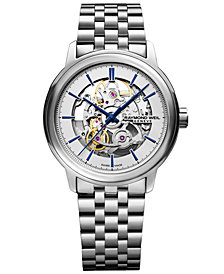 RAYMOND WEIL Men's Swiss Automatic Maestro Stainless Steel Bracelet Watch 39.5mm
