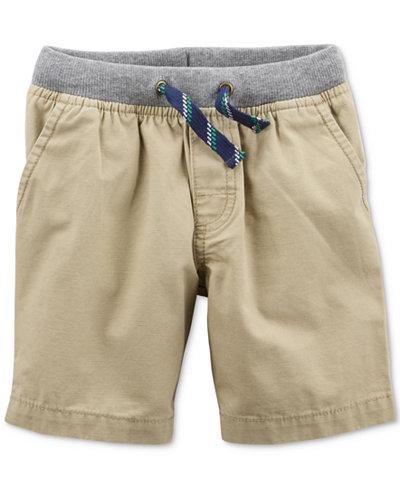 Carter's Khaki Ribbed-Waist Shorts, Little Boys & Big Boys