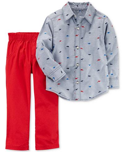 Carter's 2-Pc. Cotton Shirt & Pants Set, Toddler Boys