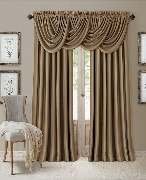 Elrene All Seasons Blackout Rod Pocket Back Tab 52 X 108 Curtain Panel