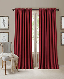 Elrene All Seasons Blackout Rod Pocket/Back Tab 52'' x 95'' Curtain Panel