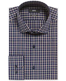 BOSS Men's Regular/Classic-Fit Windowpane Cotton Dress Shirt