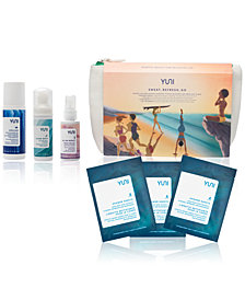 Receive a Free Yuni 7-Pc. Sweat, Refresh, Go Set with any $100 Naturals Purchase (A $32 Value)!