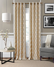 Elrene Zelda Metallic Geo-Print Window Panel Collection